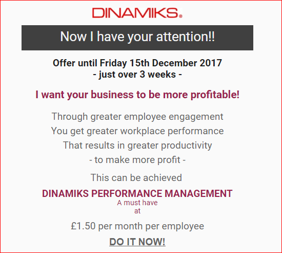 2017 Offer for Dinamiks